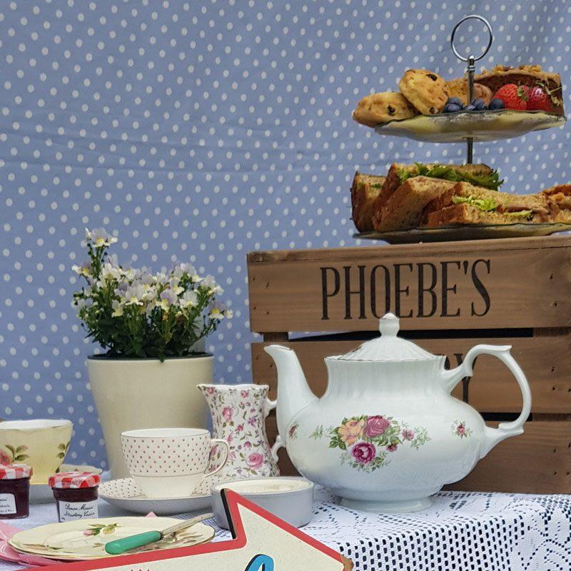 china tea set and cake stand