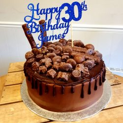 30th birthday celebration cake